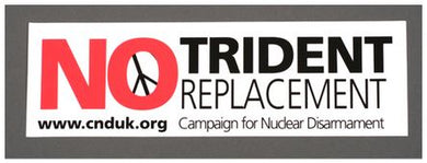 Sticker - No Trident Replacement