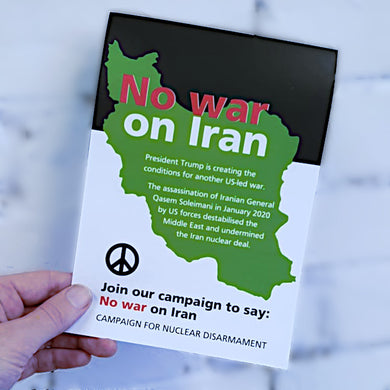 Leaflet - No war on Iran X 100