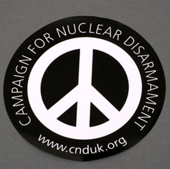 Round CND Logo Window Sticker