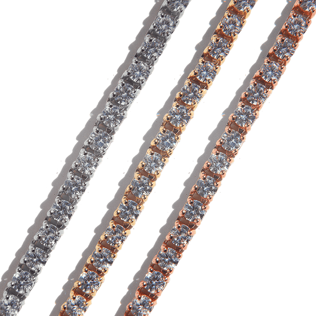 Tennis Bracelet 3mm Rose Gold