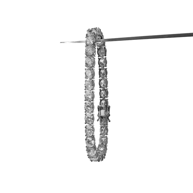 6mm Tennis Bracelet White Gold