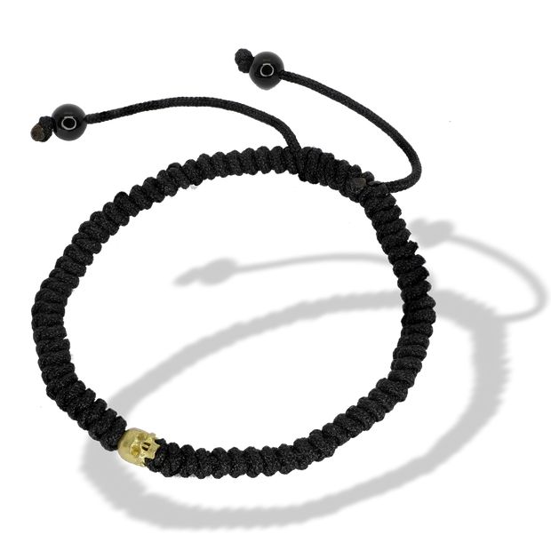 Saint Nyjah Skull Braid Bracelet Gold