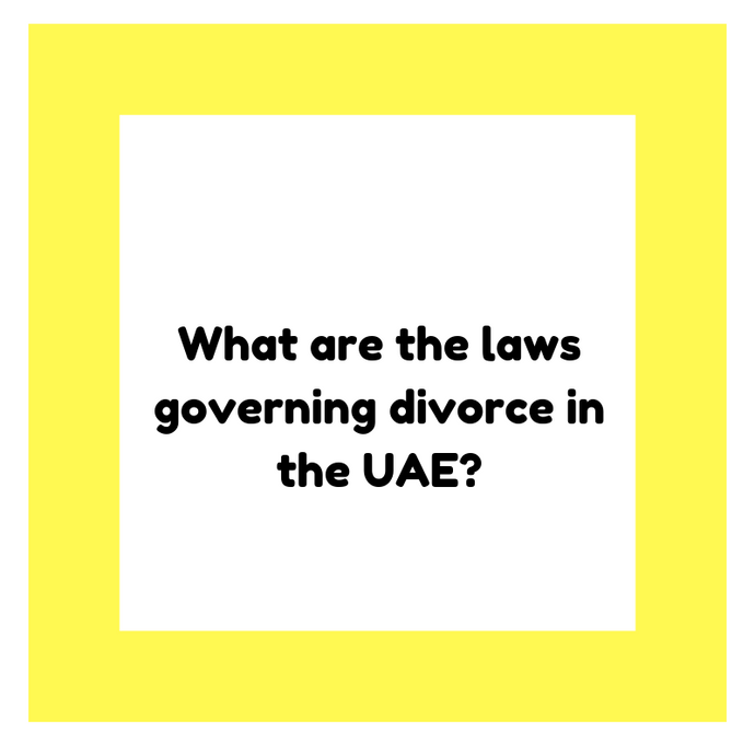 What are the laws governing divorce in the UAE?