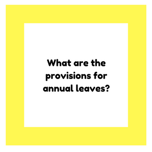 What are the provisions for annual leaves?