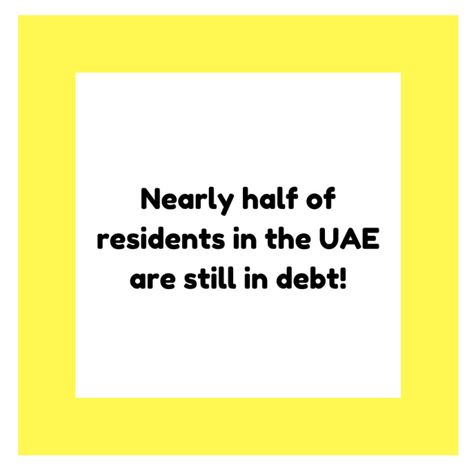 Nearly half of residents in the UAE are still in debt!