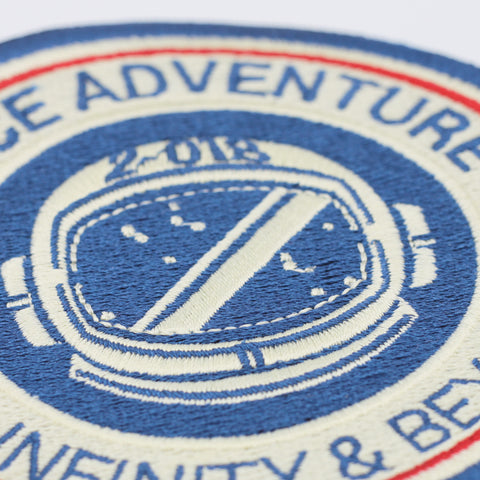 Space Adventure - To Infinity & Beyond Patch Close Up Shot