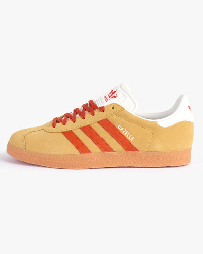 Adidas Originals Gazelle - Hazy Beige / Fox Orange / Gum UK 7.5 FX549475 4064036964237 Adidas Originals Trainers
