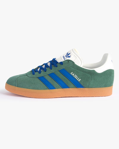 Adidas Originals Gazelle - Hazy Emerald / Royal Blue / Gum UK 7 FX54937 4064036965173 Adidas Originals Trainers