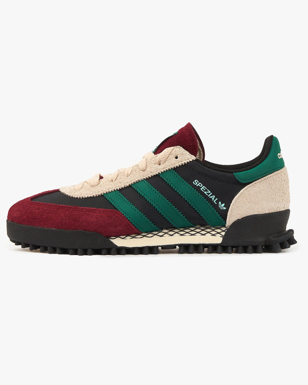 Adidas Originals Handball Spezial - Core Black / Collegiate Green / Burgundy UK 7 FY67407 4064037574152 Adidas Originals Trainers