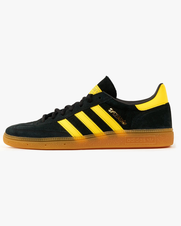 Adidas Originals Handball Spezial - Core Black / Yellow / Gold Metallic UK 8 FX56768 4064037585813 Adidas Originals Trainers