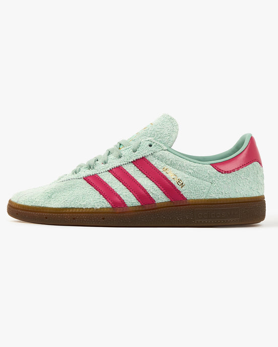 Adidas Originals München - Hazy Green / Wild Pink UK 7 FX56347 4064037601209 Adidas Originals Trainers