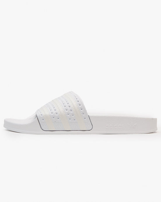 Adidas Originals Womens Adilette Slides - Cloud White / Off White UK 4 FW22914 4060517529032 Adidas Originals Flip Flops & Sliders