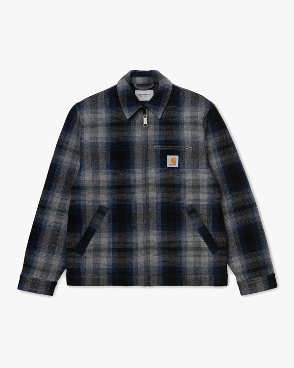 Carhartt WIP Detroit Vermont Jacket - Vermont Check / Black-Admiral S I028295899003S 4058459916560 Carhartt WIP Jackets & Coats