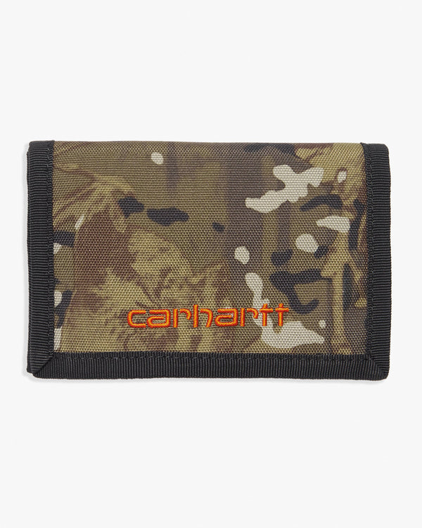 Carhartt WIP Payton Wallet - Camo Combi / Safety Orange I0254110G29006 4058459867350 Carhartt WIP Wallets & Key Fobs