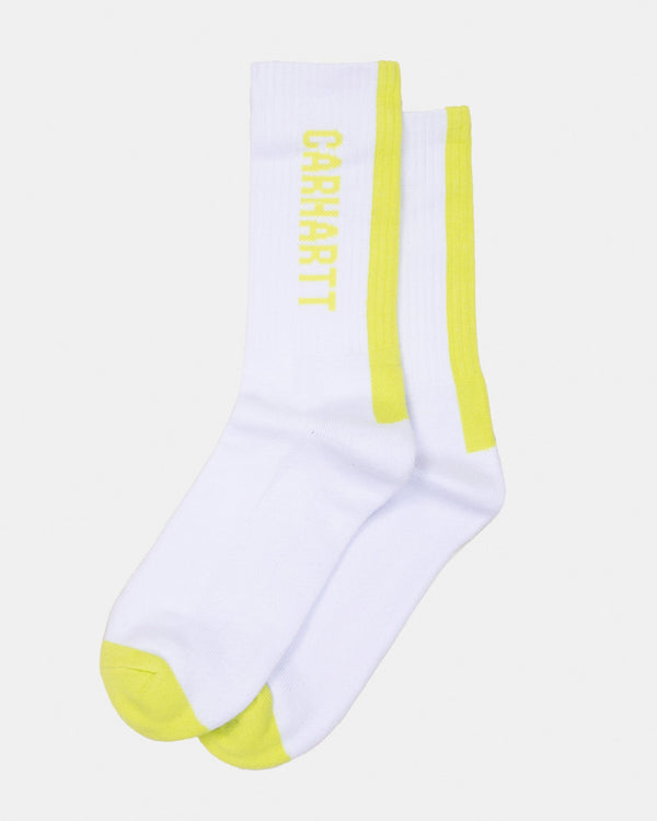Carhartt WIP Turner Socks - White / Lime I027707029006 Carhartt WIP Socks