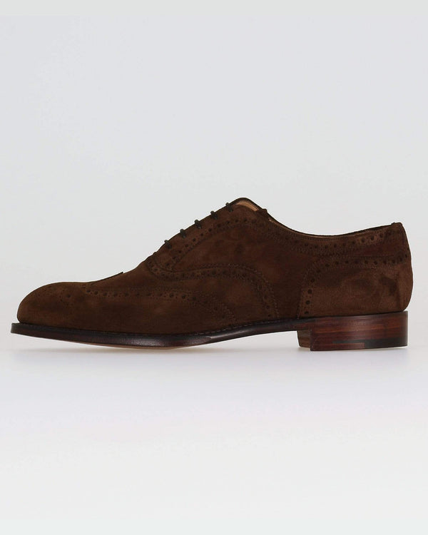 Cheaney Arthur III Oxford Brogue - Brown Plough Suede UK 7 1001957 5056177007132 Cheaney Shoes Shoes