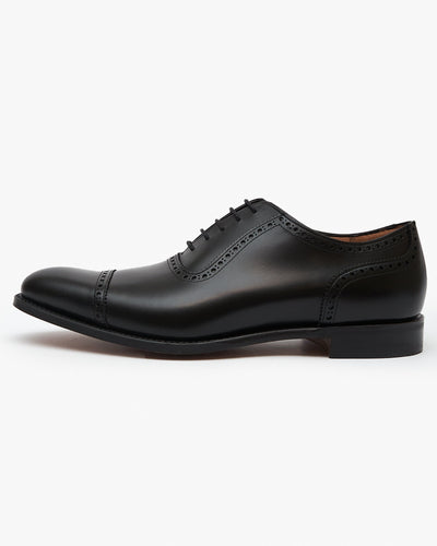 Cheaney Fenchurch Oxford Shoe - Black Calf Leather UK 7 1001067 5056177028816 Cheaney Shoes Shoes