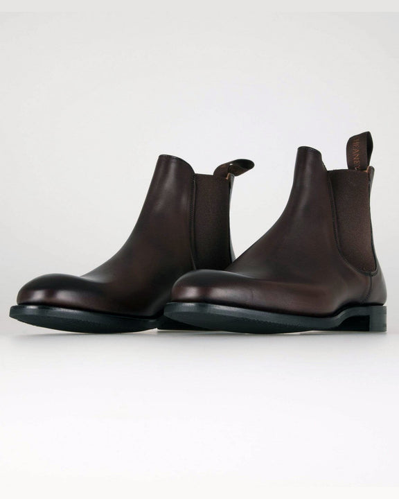 Cheaney Godfrey D Chelsea Boot - Mocha Calf Leather Cheaney Shoes Boots