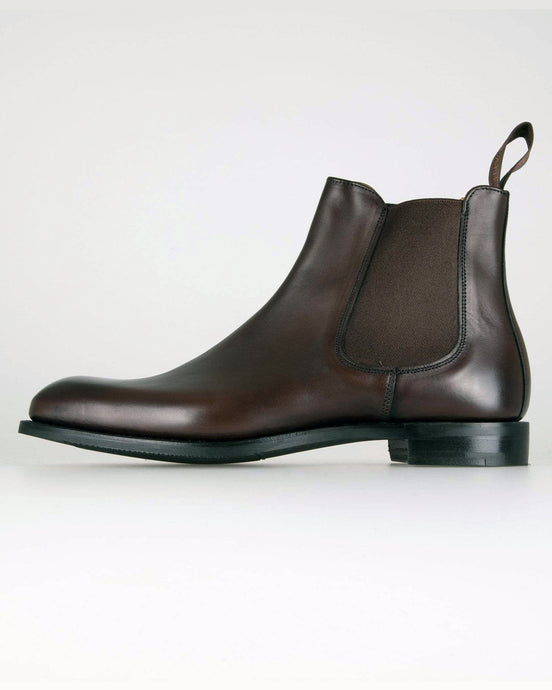 Cheaney Godfrey D Chelsea Boot - Mocha Calf Leather UK 7 0505957 5056177096839 Cheaney Shoes Boots