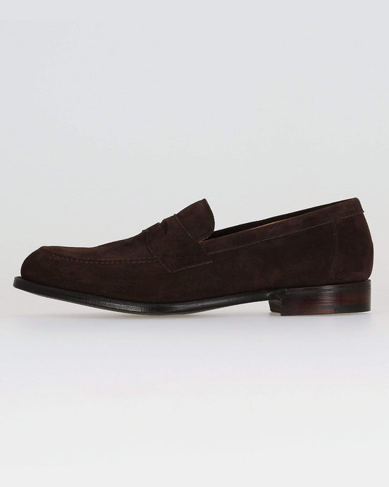 Cheaney Hadley Penny Loafer - Brown Soft Suede UK 7 0501287 5056177036989 Cheaney Shoes Shoes