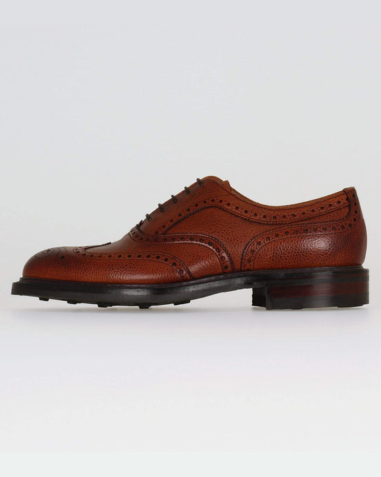 Cheaney Hythe II R Wingcap Oxford Brogue - Mahogany Grain Leather UK 7 1022887 5056177753022 Cheaney Shoes Shoes