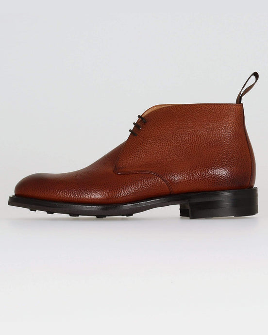 Cheaney Jackie III R Chukka Boot - Mahogany Grain Leather UK 7 1001567 5056177068898 Cheaney Shoes Boots