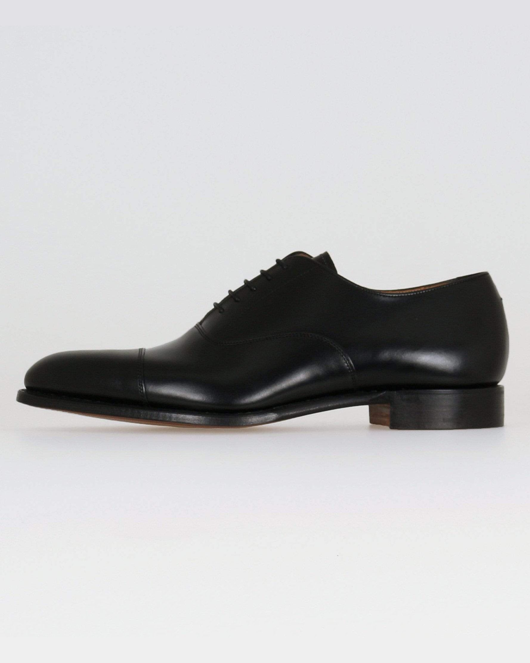 Cheaney Lime Classic Oxford Shoe - Black Calf Leather UK 7 1001017 5056177041167 Cheaney Shoes Shoes