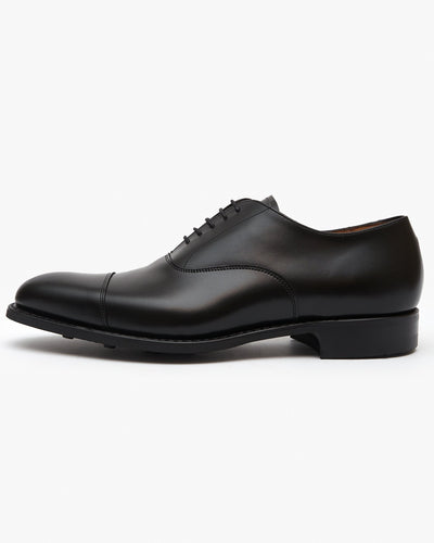 Cheaney Lime R Oxford Shoe - Black Calf Leather / Dainite Rubber Sole UK 7 0512387 5056177043253 Cheaney Shoes Shoes