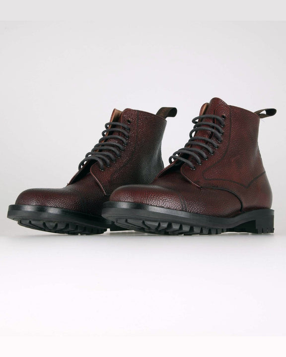 Cheaney Pennine II R Country Derby Boot - Burgundy Grain Leather Cheaney Shoes Boots