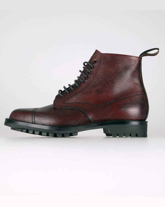 Cheaney Pennine II R Country Derby Boot - Burgundy Grain Leather UK 7 0514697 5056177352843 Cheaney Shoes Boots