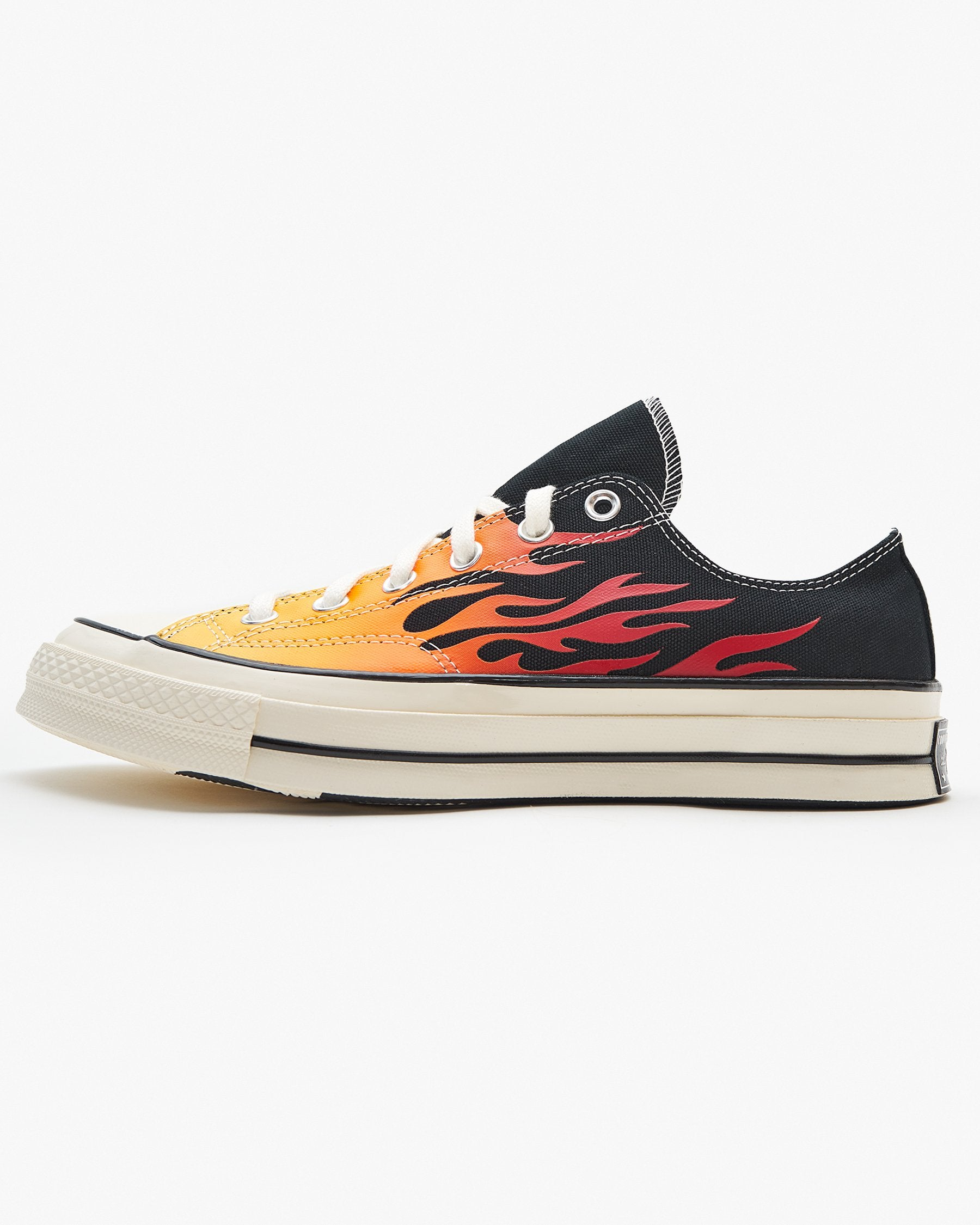 Converse Chuck 70 Low Archive Print - Black / Enamel Red / Egret UK 7 167813C7 194432037724 Converse Trainers