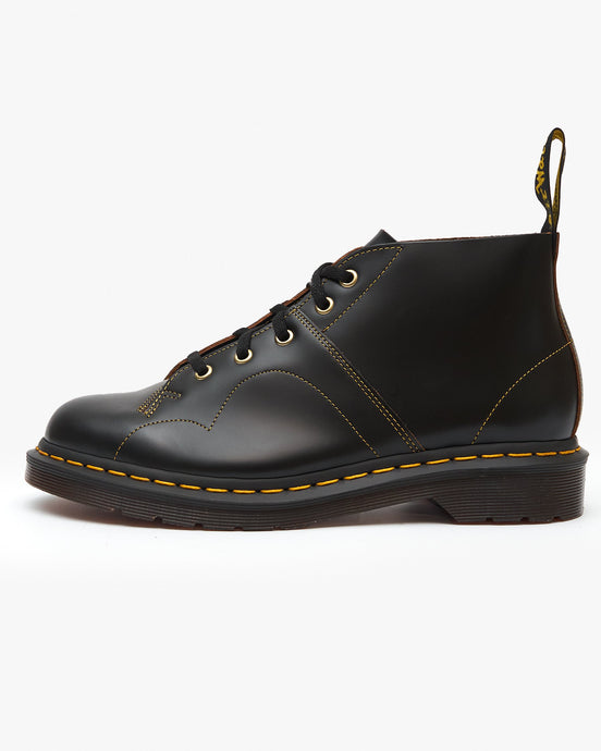 Dr Martens Church Monkey Boots - Black Vintage Smooth UK 4 160540014 883985716797 Dr Martens Boots