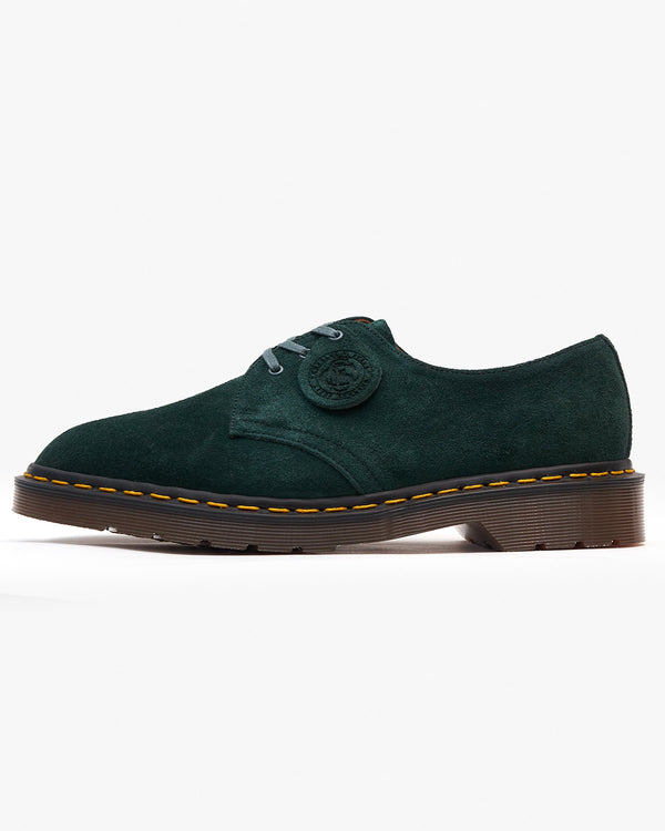 Dr Martens Made In England 1461 Shoe - Green Night Desert Oasis Suede UK 4 263353704 190665367751 Dr Martens Shoes