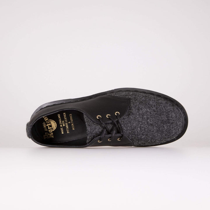 Dr Martens Made In England 1461 Shoes - Earth / Charcoal / Black Melton Wool Dr Martens Shoes