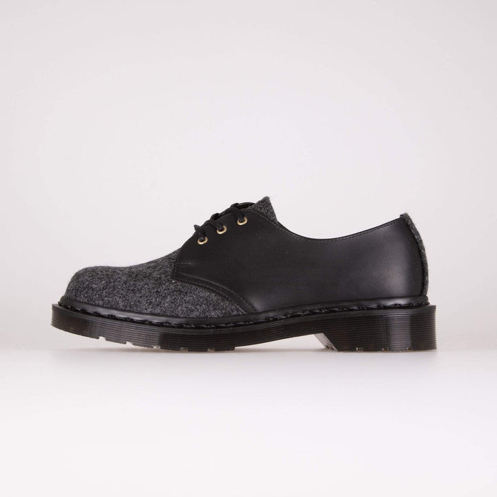Dr Martens Made In England 1461 Shoes - Earth / Charcoal / Black Melton Wool UK 7 252750807 190665299182 Dr Martens Shoes
