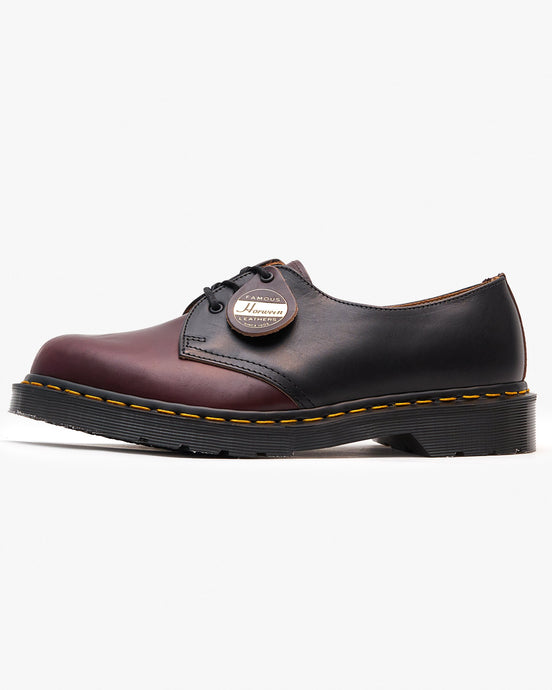 Dr Martens x Horween Leathers Made In England 1461 Shoe - Black / Burgundy Chrome Excel UK 7 260510017 190665354751 Dr Martens Shoes