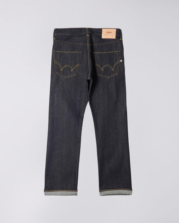 Edwin ED-47 Regular Fit Mens Jeans - Red Listed Selvage Denim / Blue Unwashed Edwin Jeans Edwin ED-47 Regular Fit Mens Jeans - Red Listed Selvage Denim / Blue Unwashed - Jeans and Street Fashion from Jeanstore