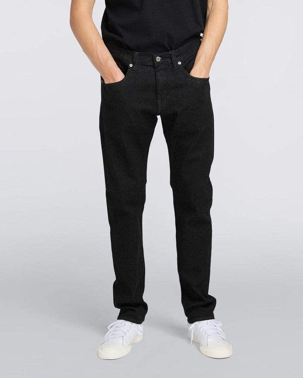 Edwin ED-55 Regular Tapered Mens Jeans - Ayano Black Denim / Rinsed W30 L32 I027226890230R 4050993488695 Edwin Jeans