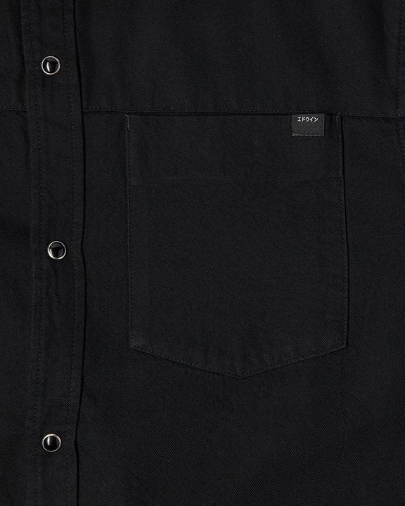 Edwin Fannar L/S Shirt - Double Black Denim / Rinsed Edwin Shirts