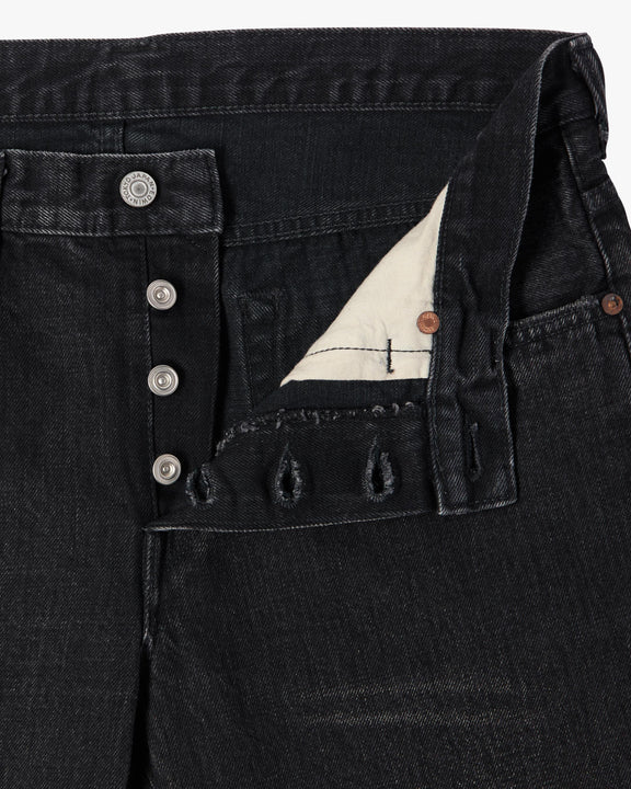 Edwin Made In Japan Regular Tapered Mens Jeans - Nihon Menpu Selvage Denim - Black Dark Used Edwin Jeans