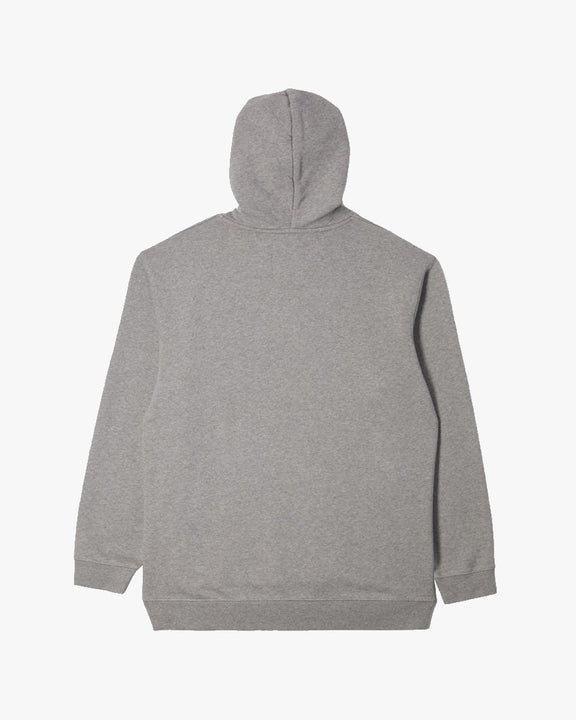 Edwin Sunset On Mt Fuji Hooded Sweat - Heavy Felpa Mid Grey Edwin Sweaters & Knitwear