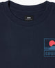 Edwin Sunset On Mt Fuji Tee - Navy Blazer Edwin T Shirts