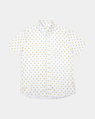 Far Afield Cognito S/S Shirt - Oranges 2 / M AFS245AM 5060692687076 Far Afield Shirts