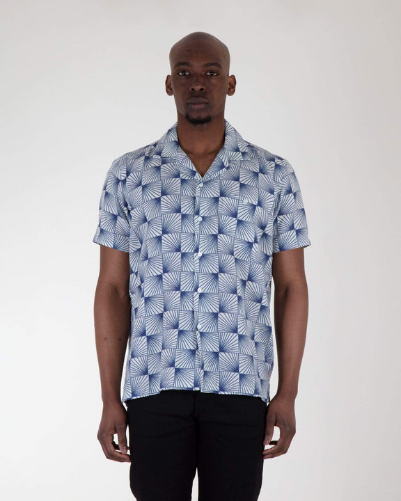 Far Afield Selleck S/S Shirt - Linen - Sun Rays Far Afield Shirts