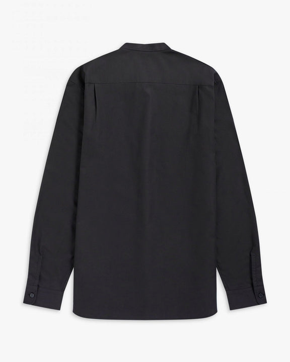Fred Perry Grandad Collar Shirt - Black Fred Perry Shirts