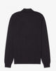 Fred Perry L/S Zip Neck Knitted Shirt - Black Fred Perry Shirts