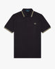 Fred Perry M12 Made In England Twin Tipped Polo Shirt - Black 40 M12M2040 5034605869484 Fred Perry Polo Shirts