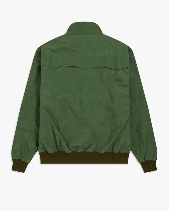 Fred Perry Made In England Waxed Harrington Jacket - Dark Fern Fred Perry Jackets & Coats