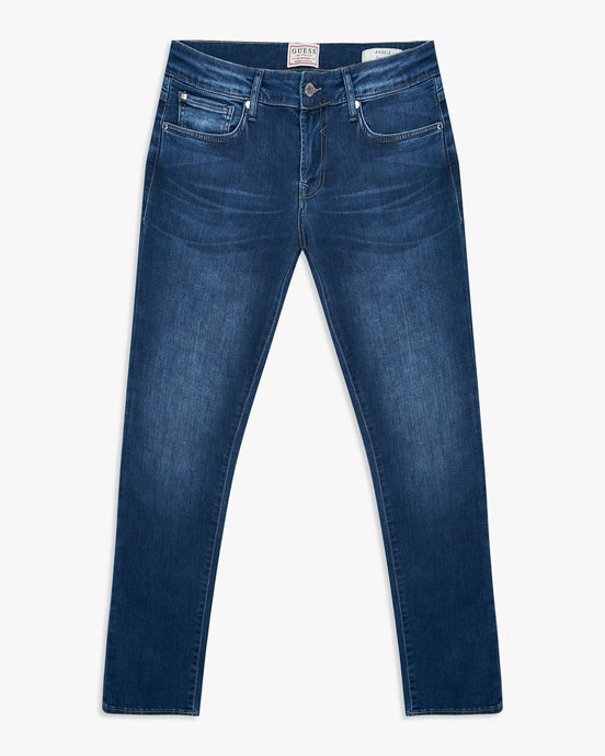 Guess Angels Skinny Fit Mens Jeans - BFLD / Mid Blue W30 L30 M02AN2D3ZL1-BFLD30S 7618584555293 Guess Jeans