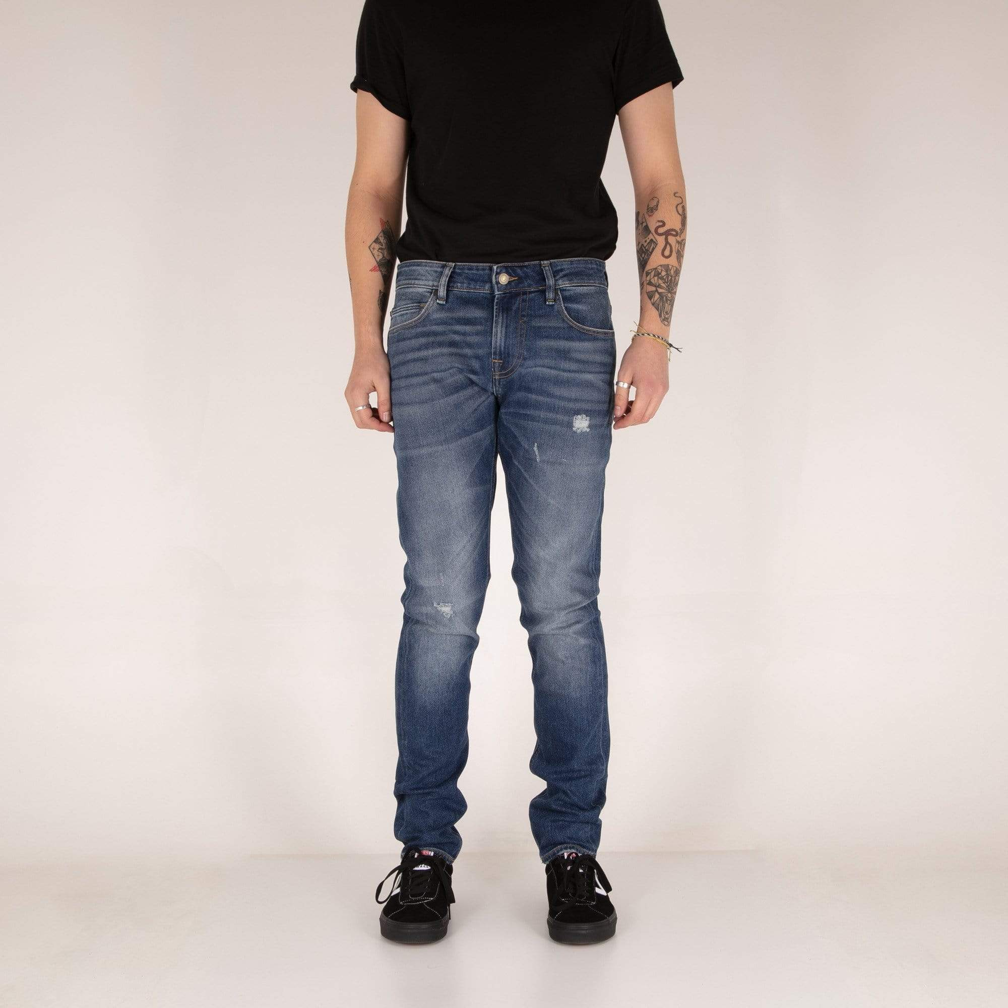 Guess Chris Skin Tight Mens Jeans - Langford / Mid Blue Used W30 L30 M94A27D3PC130S 7613419109597 Guess Jeans